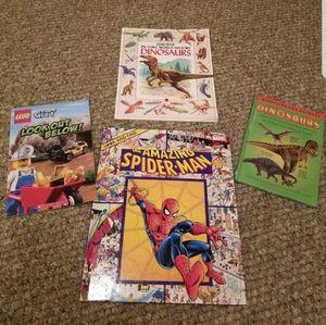 Sweet of 4 children's books spiderman Lego